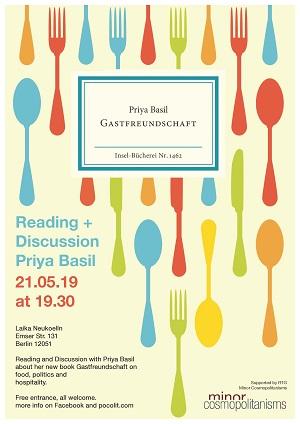 Lesung und Diskussion mit Priya Basil – 21.05.19