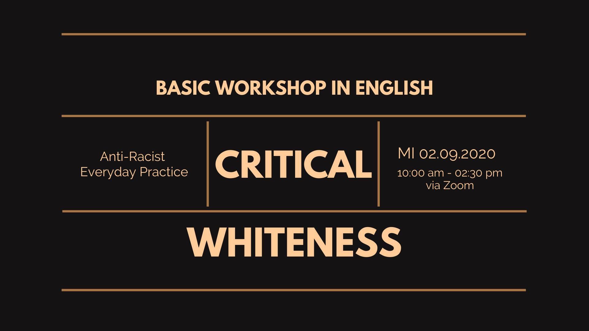 Basis Workshop: kritisches Weissein in der Alltagspraxis