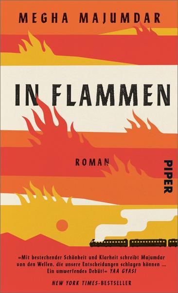 """Buchcover des Debutromans """"In Flammen"""" von Megha Majumdar"""