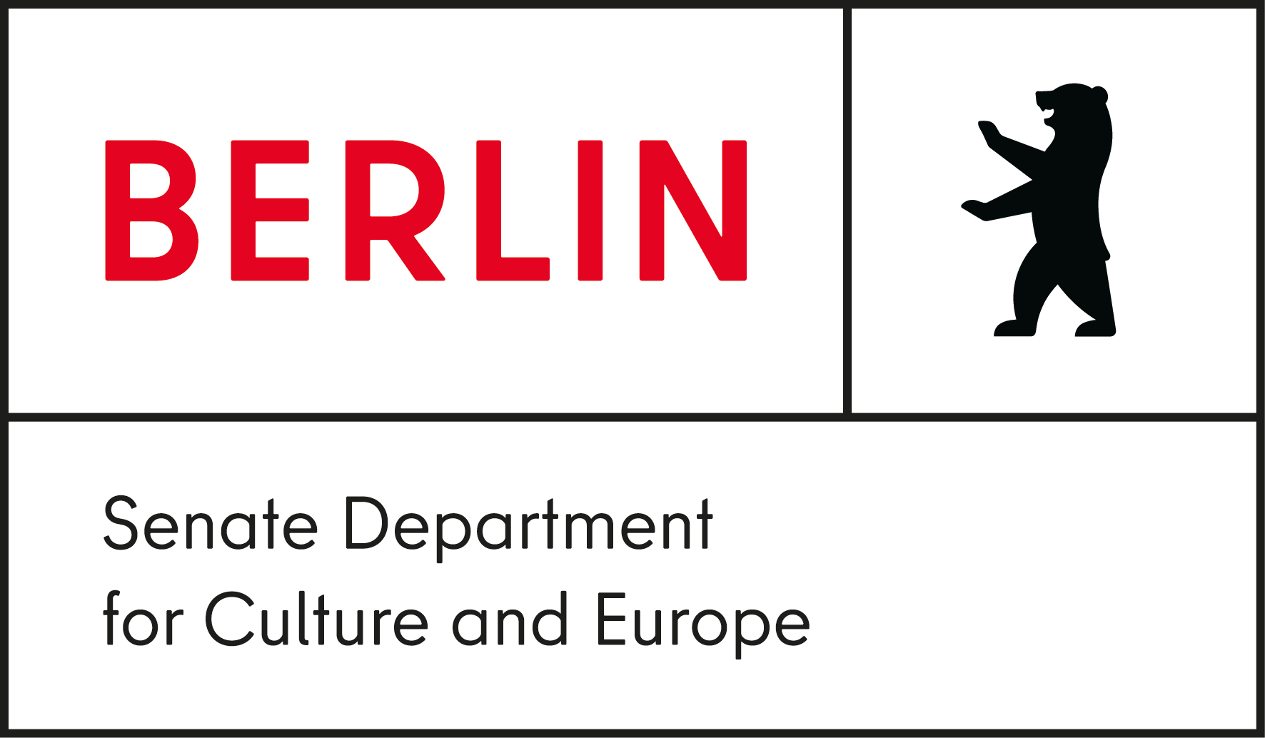 Logo: Senate Department for Culture and Europe Berlin