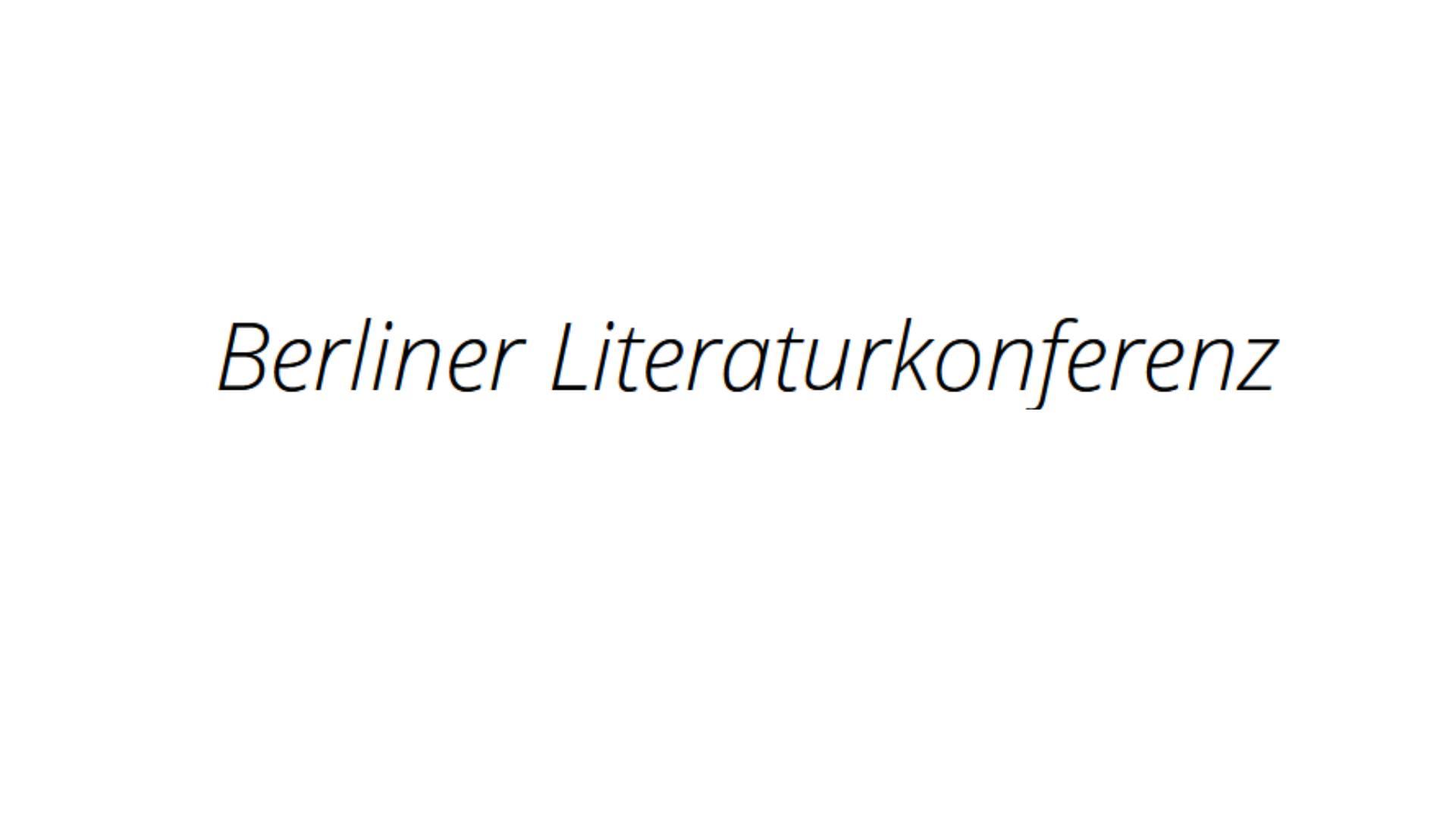 Berliner Literaturkonferenz