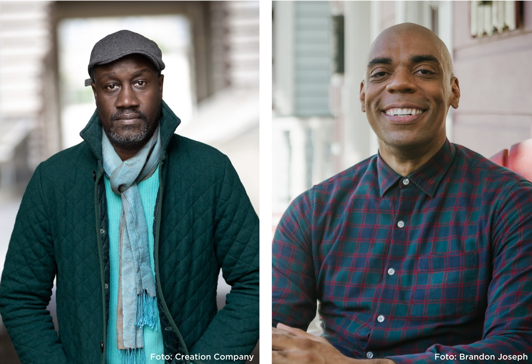 A picture of Musa Okwonga and Channing Joseph